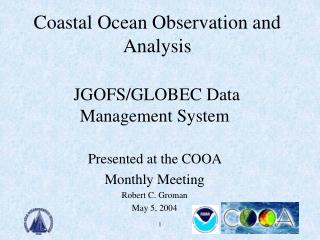 Coastal Ocean Observation and Analysis