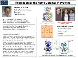 Regulation by the Heme Cofactor in Proteins