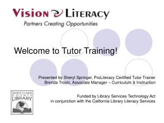 Welcome to Tutor Training!