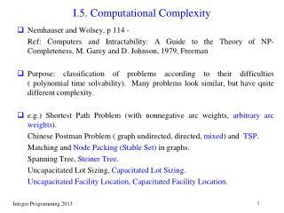 I.5. Computational Complexity