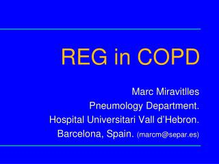 REG in COPD