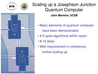 Scaling up a Josephson Junction Quantum Computer