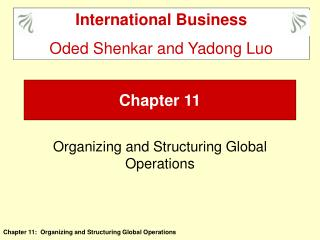 Organizing and Structuring Global Operations