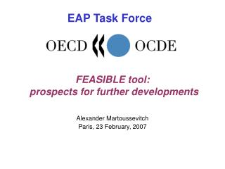 FEASIBLE tool:  prospects for further developments