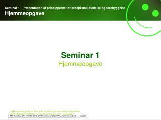 Seminar 1 Hjemmeopgave