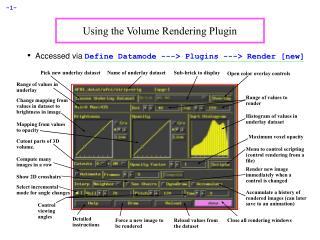 Using the Volume Rendering Plugin
