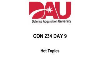 CON 234 DAY 9