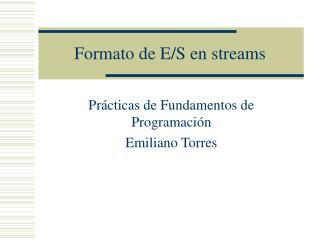 Formato de E/S en streams