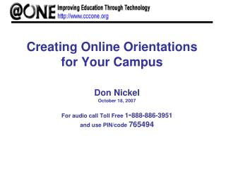 Creating Online Orientations for Your Campus