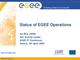 Status of EGEE Operations