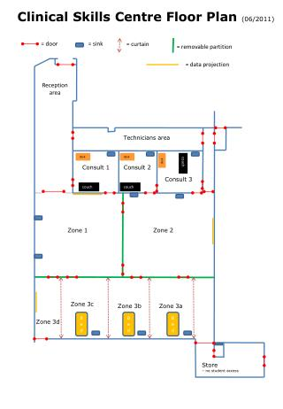 Clinical Skills Centre Floor Plan  ( 06 /2011)
