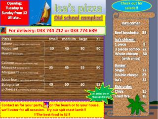 Isa�s pizza