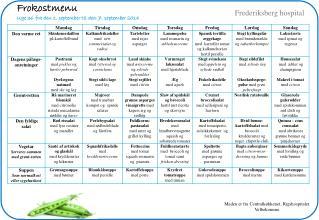 Frokostmenu Uge 36 fra den 1. september til den 7. september 2014