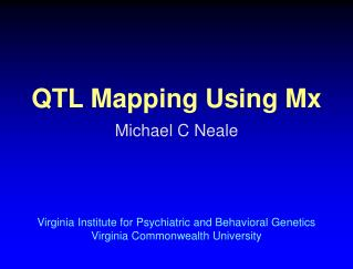 QTL Mapping Using Mx