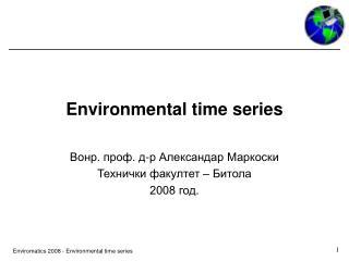 Environmental time series