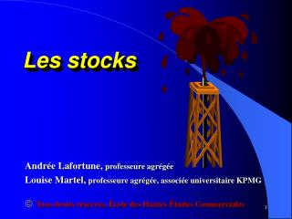 Les stocks