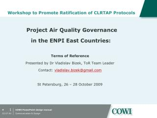 Workshop to Promote Ratification of CLRTAP Protocols