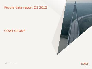 People data report Q2 2012 COWI GROUP
