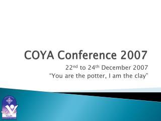 COYA Conference 2007