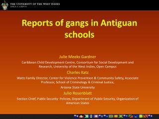 Reports of gangs in Antiguan schools