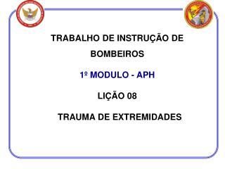 TRABALHO DE INSTRUÇÃO DE BOMBEIROS 1º MODULO - APH LIÇÃO 08   TRAUMA DE EXTREMIDADES