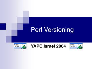 Perl Versioning