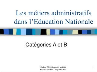 Les métiers administratifs dans l'Education Nationale