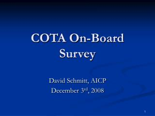 COTA On-Board Survey