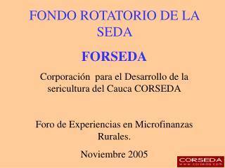 FONDO ROTATORIO DE LA SEDA  FORSEDA