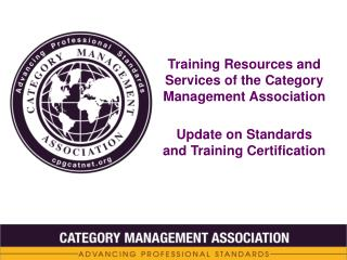 Training Resources and Services of the Category Management Association