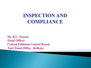 INSPECTION AND COMPLIANCE