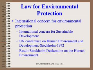 Law for Environmental Protection