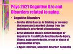 Psyc 2621 Cognitive D