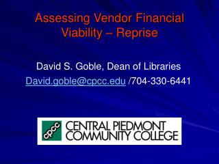 Assessing Vendor Financial Viability – Reprise