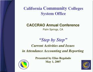 California  Community  Colleges  System Office