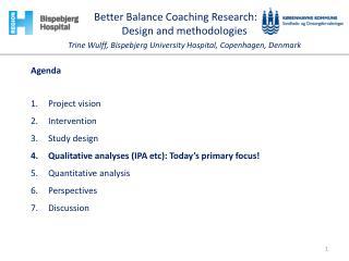 Agenda Project vision Intervention Study design