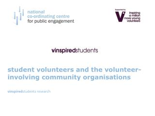 Student volunteers and the volunteer-involving community organisations