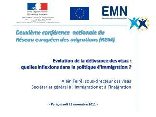 Deuxième conférence  nationale du  Réseau européen des migrations (REM)