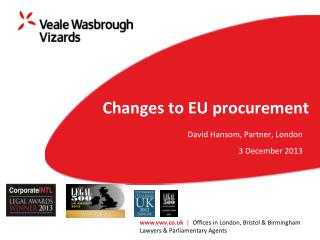 Changes to EU procurement
