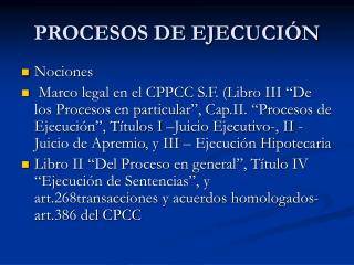 PROCESOS DE EJECUCI�N