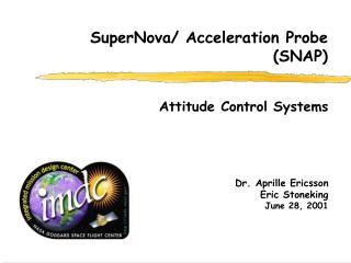 Dr. Aprille Ericsson Eric Stoneking June 28, 2001