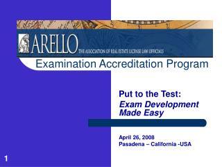 Examination Accreditation Program