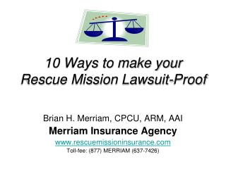 10 Ways to make your Rescue Mission Lawsuit-Proof