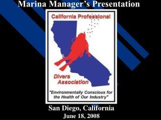 Marina Manager's Presentation