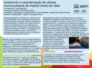 Introdução/Objetivos:  A terapia com células-tronco