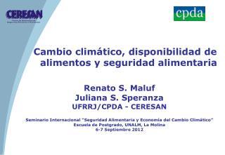 Cambio climático, disponibilidad de alimentos y seguridad alimentaria