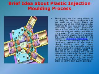 Brief Idea about Plastic Injection Moulding Process