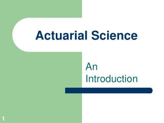 Actuarial Science