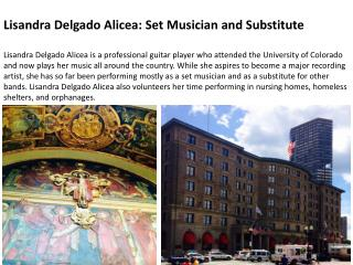 Lisandra Delgado Alicea: Set Musician and Substitute
