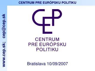 Bratislava 10/09/2007